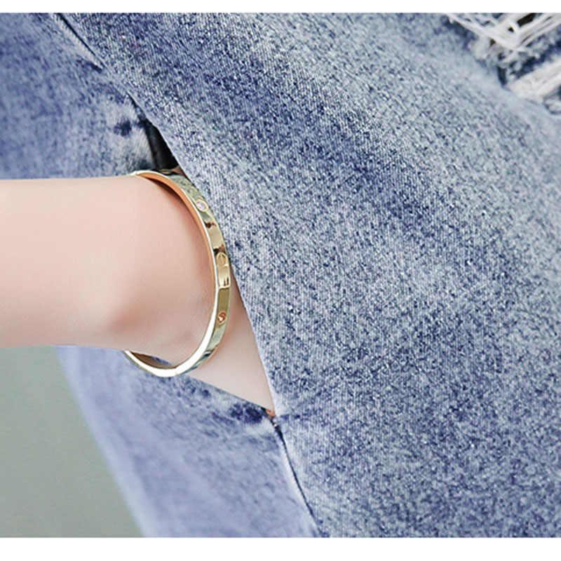 Летний женский сарафан Ретро винтажное вышитое мягкое джинсовое платье из денима с круглым вырезом Мини Повседневный Плюс размер женский vestidos 2019 OK852