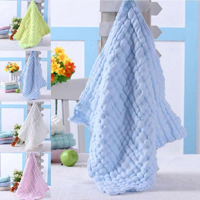 Soft Cotton Baby Handkerchief Infant Kids Towel Newborn Baby Washable Baby Child Feeding Wipe Cloth Bathing Face