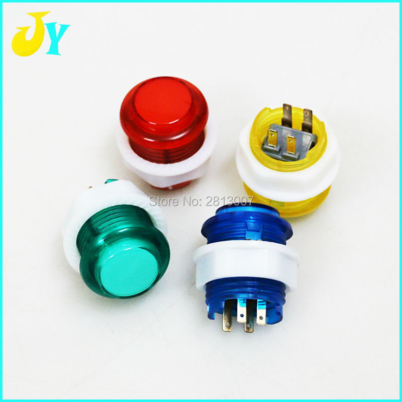 US $3 8 |2pcs/lot 5V LED Light Buttons 24mm Arcade Button With Build in  Microswitch For Raspberry PI 1 Retropie Project & Jamma DIY-in Coin  Operated
