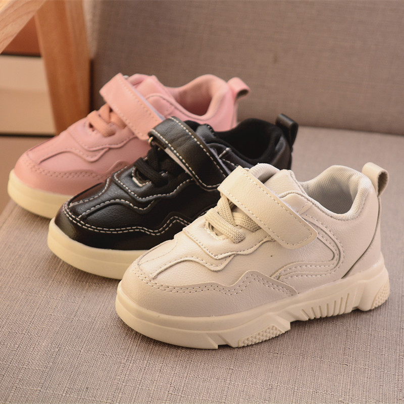 Toddler Infant Kids Baby Boys Girls Leather Casual Sports Running Shoes Sneakers