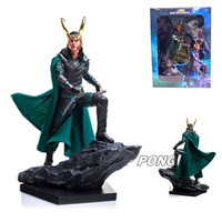 New Avengers Thor 3 Loki action figure Toy PVC 1/10 Loki battle ver Statue for Children Birthday Toys Gift 25 cm