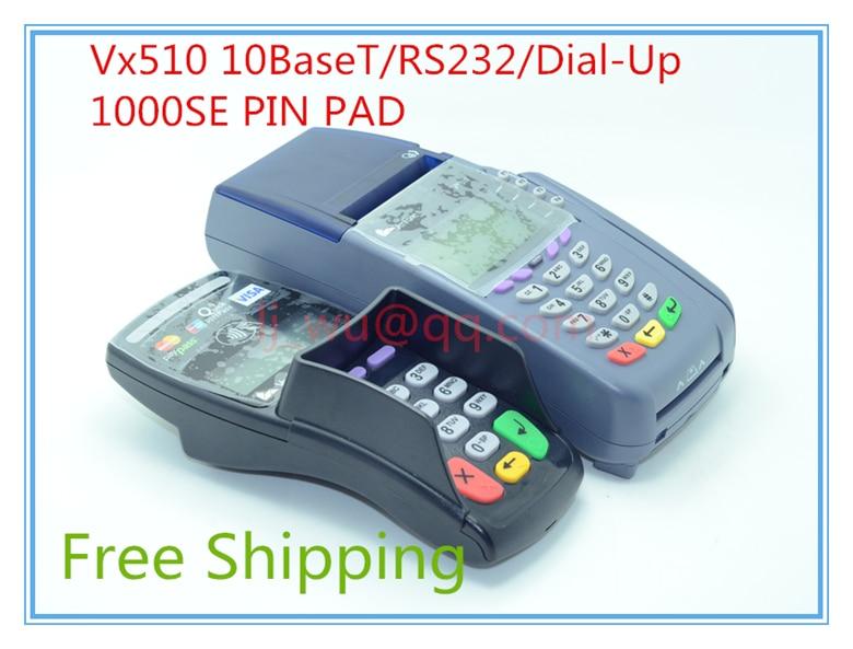 Brand New VeriFone Vx510 10BaseT/RS232/Dial-Up 4MF/2M 14.4K 10BT SC 3SM POS Terminal
