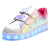 2016 Горячие Дети Shoes LED светом до Корзины Девушки Освещение Светящиеся Мальчики Shoes Lumineuse Chaussure Enfant Детские Кроссовки(China (Mainland))