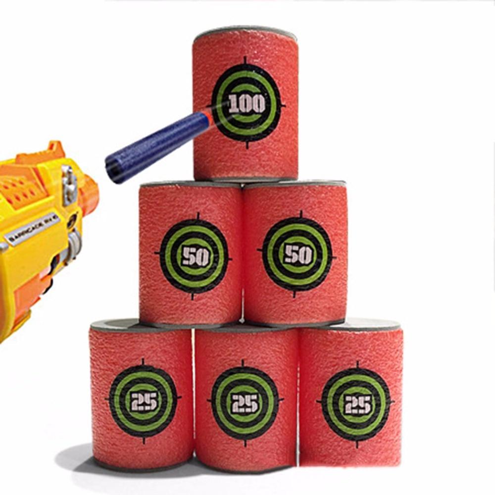 6pcs Soft Bullet Annex Outdoor Targets Shot Dart Target Set N-strike Elite Series Blasters Darts Toy Gun Exercise Tool