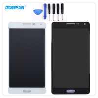 100 Tested Black White For Samsung Galaxy A5 SM A500F LCD Display Touch Screen Digitizer Full