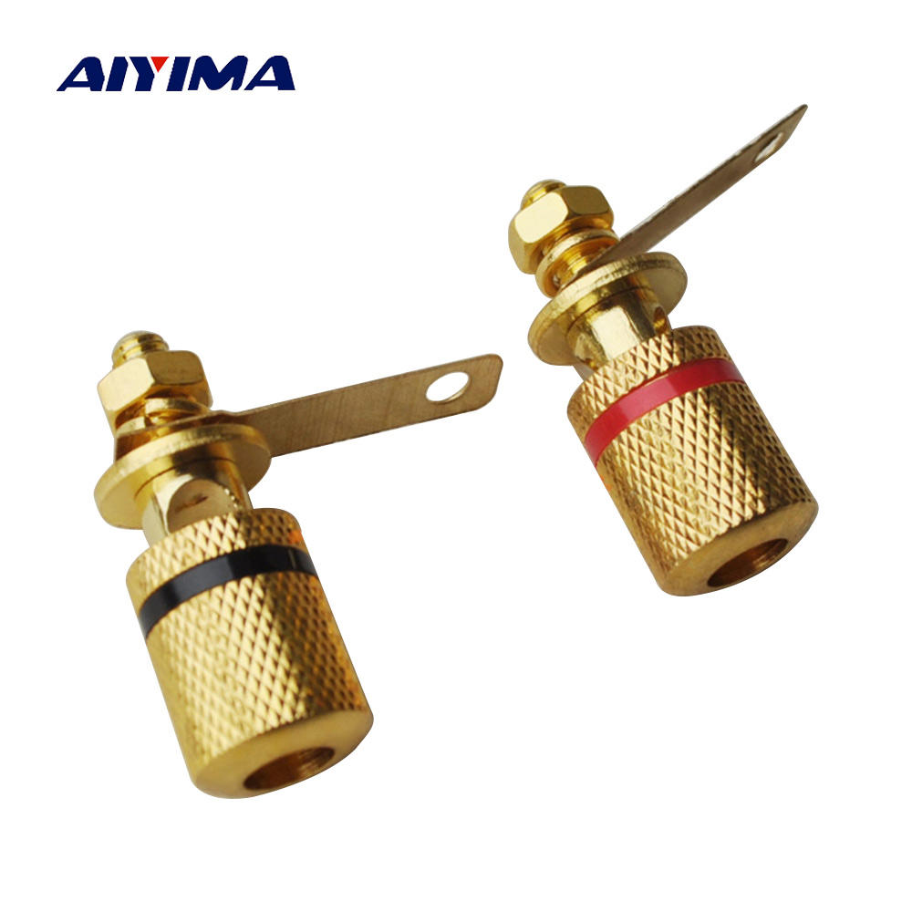 AIYIMA 2Pcs Audio Speakers Terminal Active Speaker Parts Sound Box Accessories DIY For Home Theater