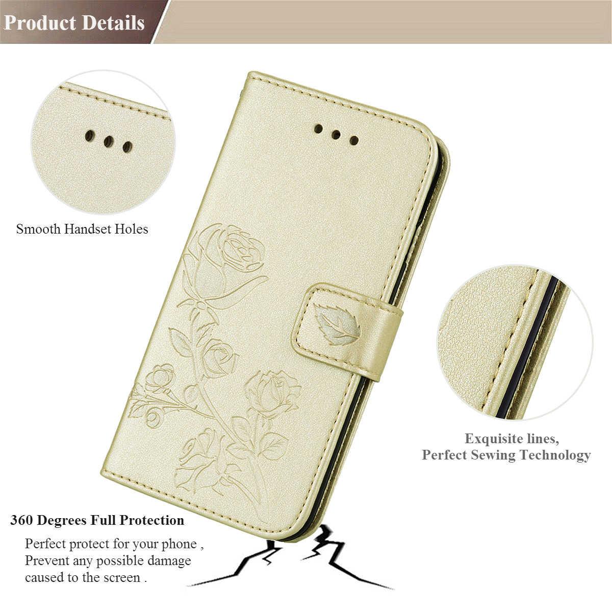 Para Huawei P 2019 Inteligente Caso POT-LX3 POT-LX1 Silicone Estojo de couro carteira Para Huawei P Inteligente FIG-LX1 LX2 LX3 FIG-LA1 tampa articulada