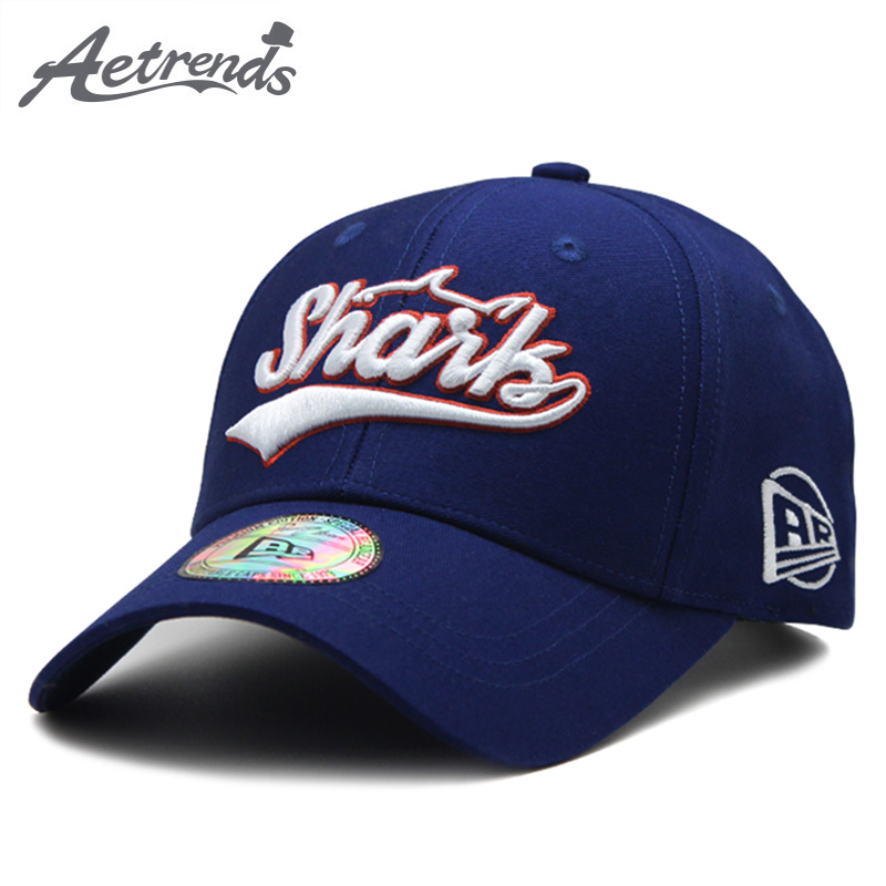 [AETRENDS] High Quality Pure Cotton Letters Embroidery Baseball Cap Men Women Outdoor Sport Caps Snapbacks Bone Z-6379