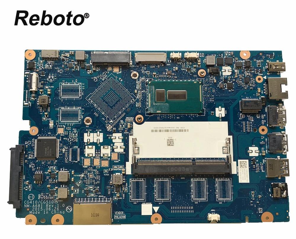 Reboto High quality FOR Lenovo 100 15IBD Laptop motherboard CG410 CG510 NM A681 I3 5020U DDR3L