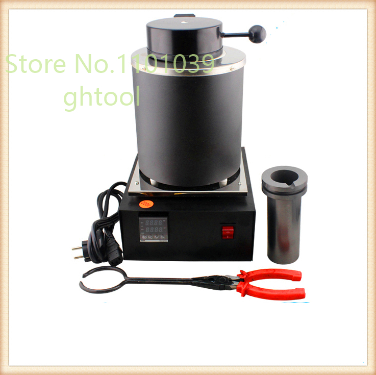 110V Jewelry Tools 1kg Mini Gold Melting Machine Gold Silver Smelting Furnace Gold Refining Machine jewelery tools gold melting furnace machine 1kg casting refining precious metals melts gold silver copper tin aluminum