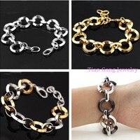 Ot Sale Stainless Steel Silver Roud Link Bracelet Bijoux Friendship Bracelets For Women Costume Jewelry Punky