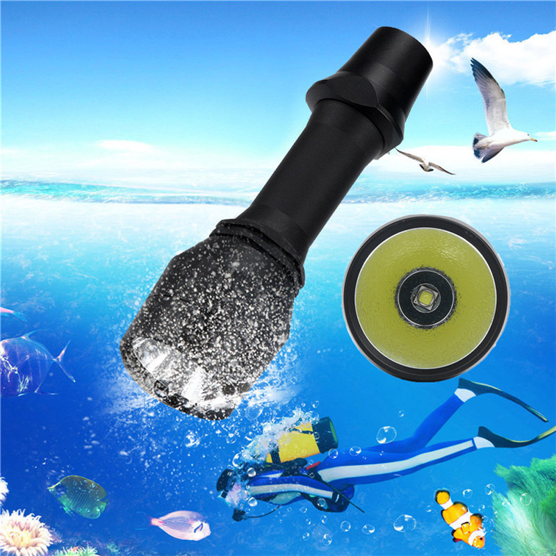 XM-L2 LED Scuba Diving Flashlight Torch Bicycle Light Underwater 100m High Quality Anodized Aluminum Alloy Wholesales&Retails