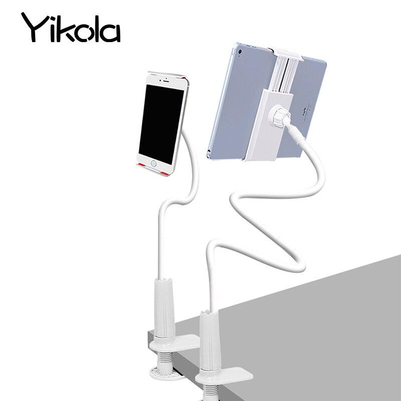 Pour ipad mini 1 2 3 4 Flexible Tablet Titulaire Rock 360 degrés bras table pad stand 70 cm Long Gens Paresseux Lit De Bureau tablet montage