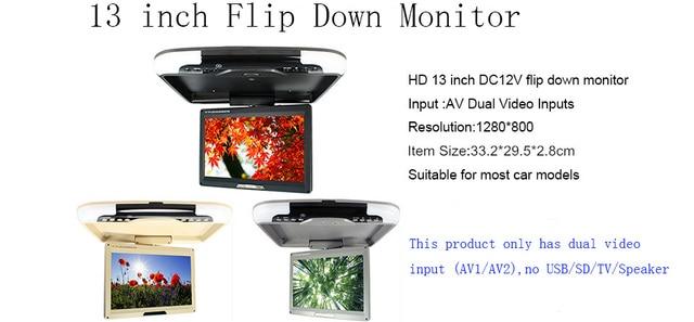 13 polegadas dc 12 v teto do carro monitor montado led tela digital 13 polegadas dc 12 v teto do carro monitor montado led tela digital monitor de flip ccuart Images