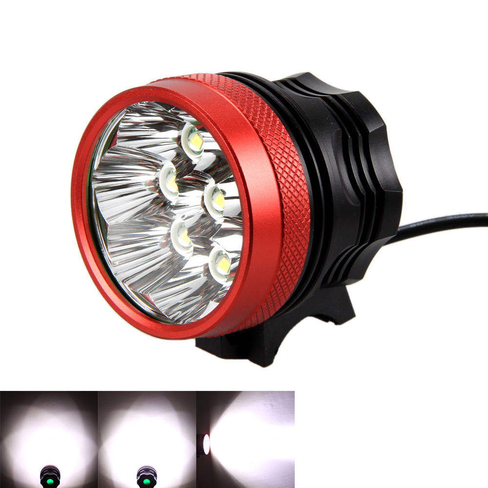 Super Strong 12000lm Bicycle Light Set 8 XML T6 LED Bike Headlight Cycling Headlamp + 8.4v 20000mAh Battery Pack +Rear Light