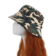 12 Color Cotton Summer Military Camouflage Bucket Hat Outdoor Sun Hats Travel Boonie Hiking Casual Fishing Cap For Men Women