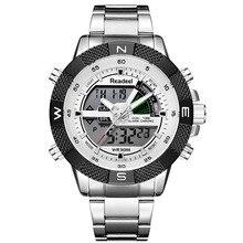 Мужские спортивные наручные часы, армейские водонепроницаемые часы со стальным светодиодом, цифровые часы, 2018