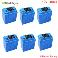Lithium Battery 12v 40ah Lifepo4 Battery Pack For Electric Bicycle E Bike E Scooter