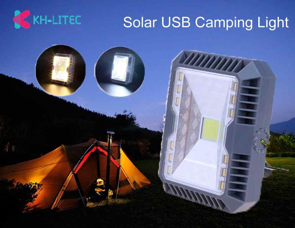 Outdoor Led Camping Light 3 Mode Solar USB Camping Tent Light Flashlight Portable Hanging Lamp Solar Lantern Camping Light