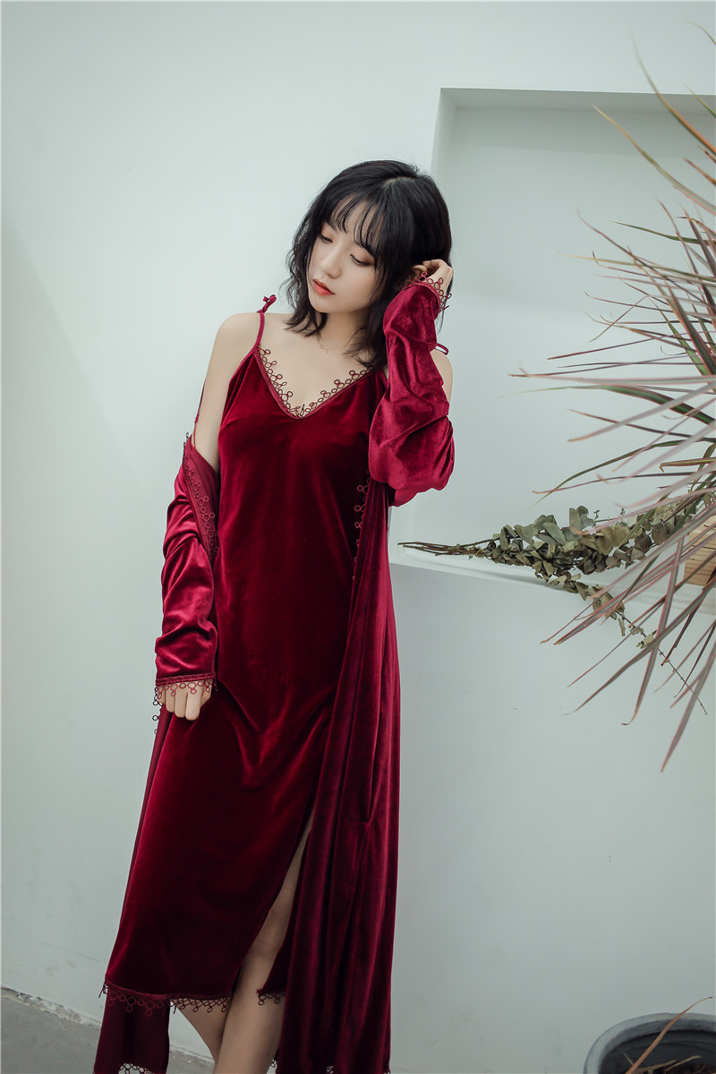 casual dressing gowns for women 2018 spring autumn kimono robe femme bathrobes lace sleepwear. Black Bedroom Furniture Sets. Home Design Ideas