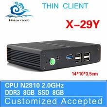 Low price small server tiny server win7 X-29y n2810 2.0GHZ mini htpc Dual core 8gb ram 16gb ssd