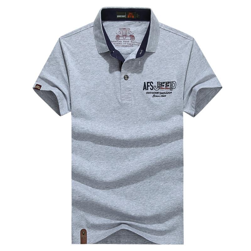 AFS JEEP Brand   Polo   Men Cotton Summer   Polo   Shirt Solid Casual Loose Breathable   Polos   Para Hombre Military   Polos   De Marca M-XXXL