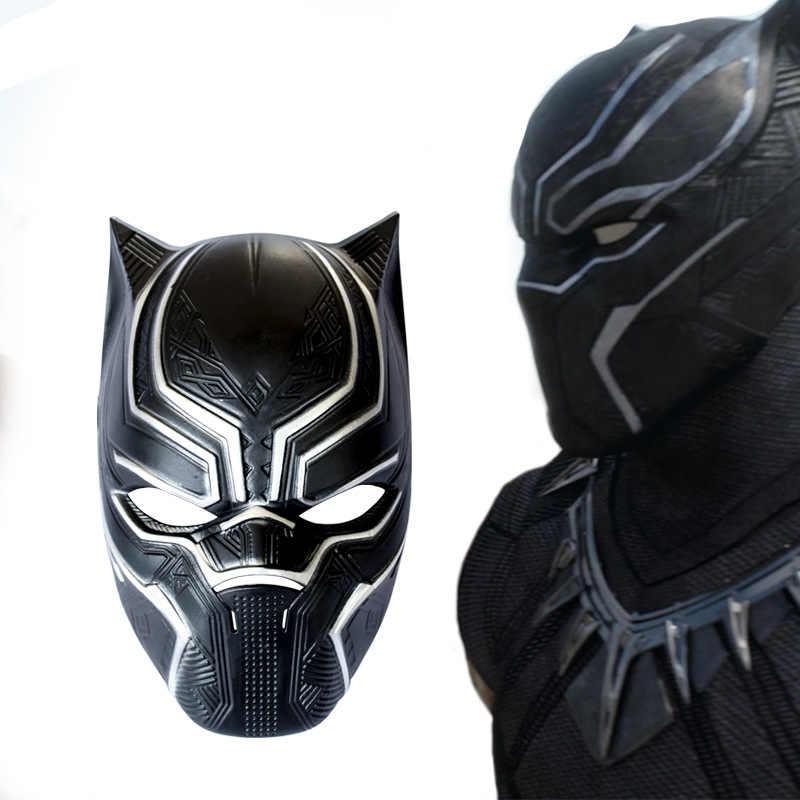 Máscaras de Pantera Negra Capitán América guerra Civil Roles máscara casco para Cosplay disfraz Halloween PP adultos y Chico accesorios de fiesta