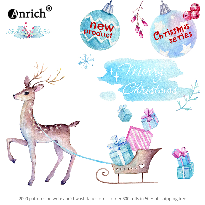 Free Shipping And Coupon Washi Tape,Anrich Washi Tape ,Christmas,deer,gift,new Products,customizable