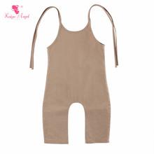 Kaiya Angel 2019 New Romper Boy Girl Clothes Summer Simple Style Jumpsuit Sleeveless Belt Newborn Baby Size~6T Factory Wholesale