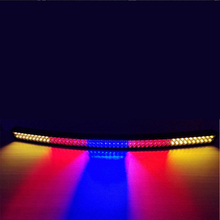 52 300W White Amber Red Blue together StrobeFlash Led Work Light Bar Curved Signal For Off