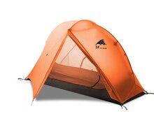 3F UL הילוך צף ענן 1 קמפינג אוהל 1 אדם 3 4 עונה 15D חיצוני Ultralight טיולים תרמילאים ציד אוהלים עמיד למים