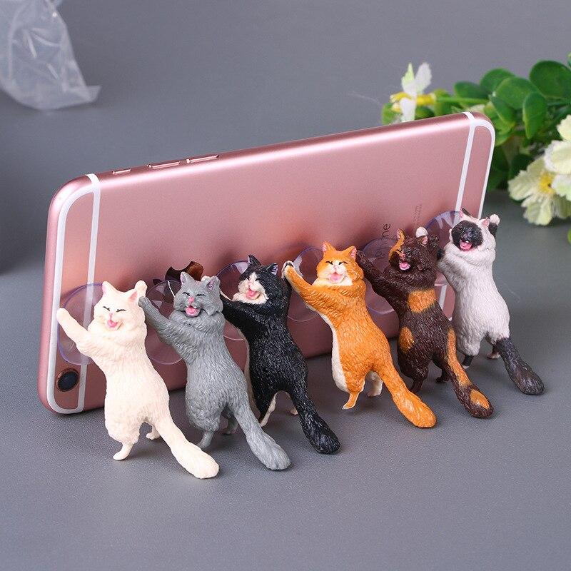Phone Holder Cute Cat Tablets Desk Sucker Support Mobile Phone Stand Holder Sucker Design Animal Holder For Smartphone
