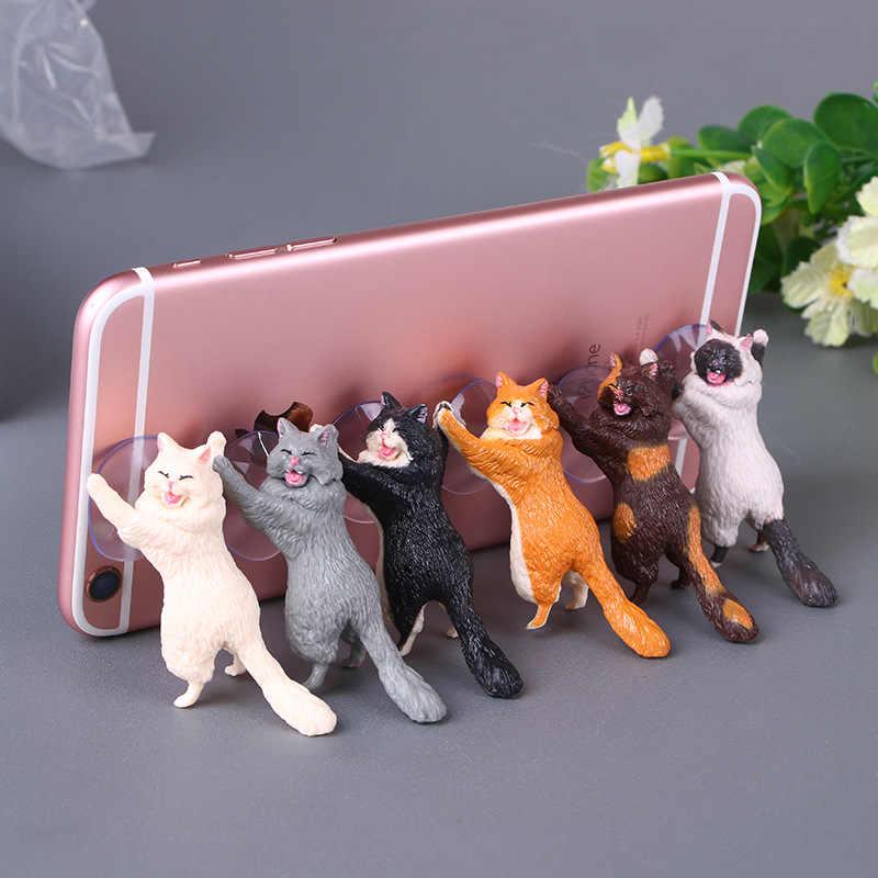 Suporte do telefone Gato Bonito Comprimidos Desk Suporte Suporte Otário titular Suporte Do Telefone Móvel Otário Projeto Animal para o Smartphone