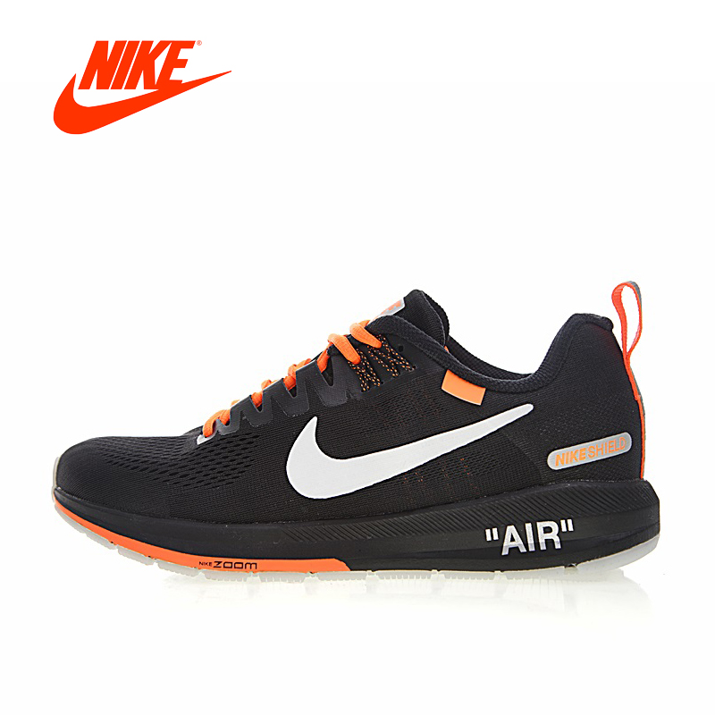 Original Authentic OFF-WHITE x Nike Air Zoom Structure 21 Men's Running Shoes Sport Outdoor Sneakers Designer Winter 907324-008