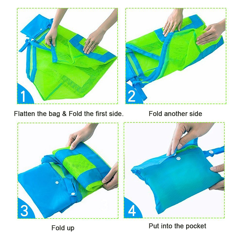 Durable Holding Toys Balls Beach Mesh Tote Bag (30)