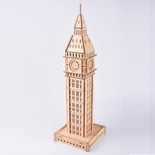 цена на Model Building Kits Laser Cutting Puzzle 3D Wooden Jigsaw Model Big Ben Uk Model Educational Toy Collection For Kids Children