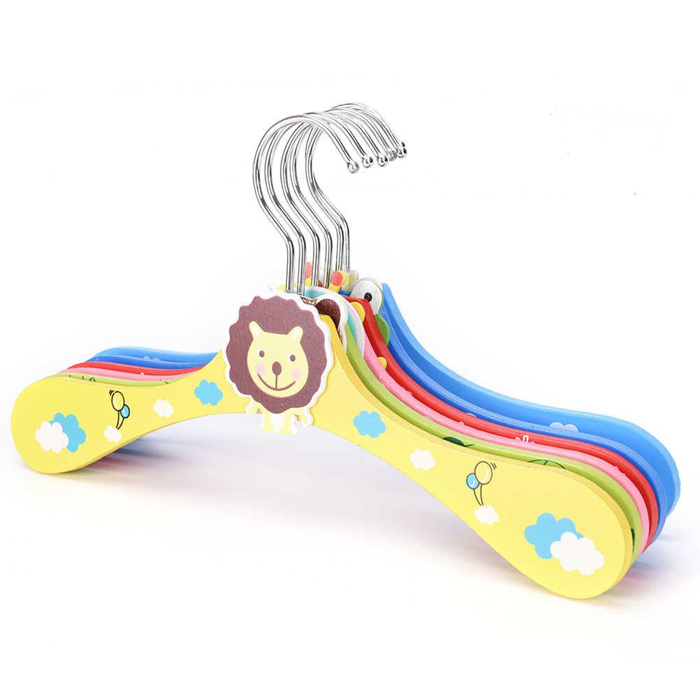 1 قطع لطيف الكرتون الحيوان الأطفال شماعات المعيشة غرفة الحمام إمدادات الرضع الاطفال خشبية معطف الملابس السنانير