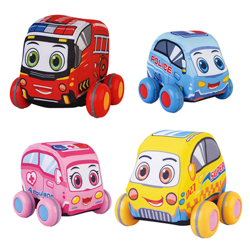 Baby Toys 13-24 Months Pull-Back Vehicles 4 Cars/Set Soft Toys For Baby Toddlers Brinquedos Para Bebe Oyuncak Baby Boy Toys