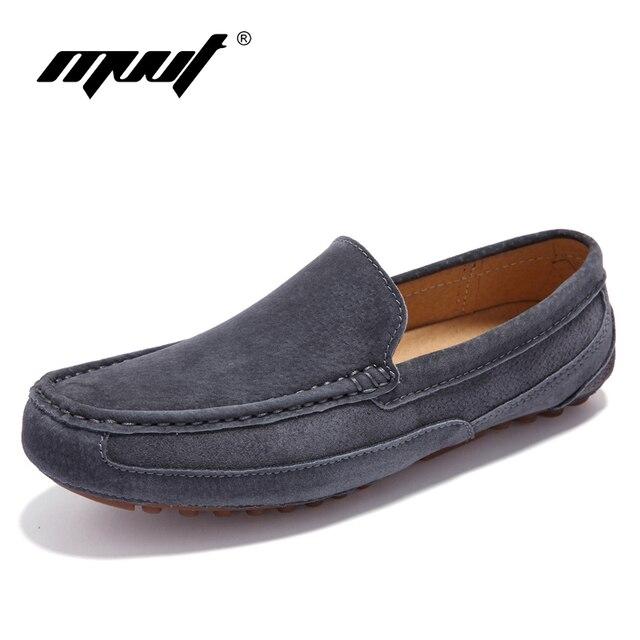 Nuovo Arrivo in pelle da uomo primavera scarpe casual Mucca camoscio  Genuino scarpe in pelle da 5e9671d7149