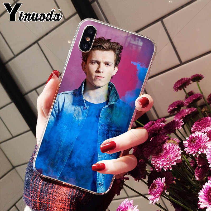 Yinuoda Tom Holland Newly Arrived Cell Phone Case for Apple iPhone 8 7 6 6S Plus X XS MAX 5 5S SE XR Cellphones