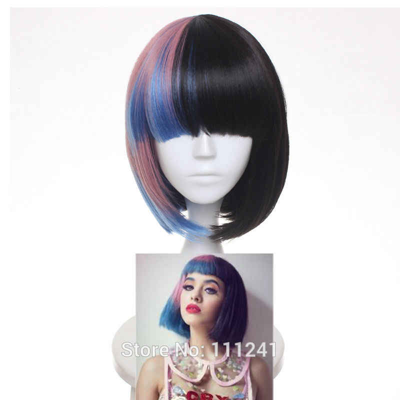 Melanie Martinez BOB Hair Wigs Women's fashion Synthetic Hair Cosplay Wigs Party Wigs Hair Heat Resistance Fiber + wig cap