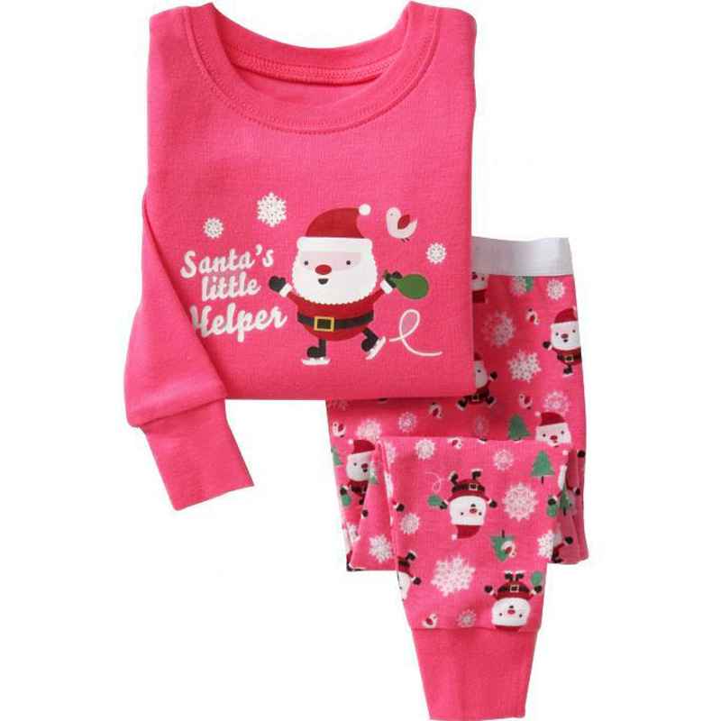 abf6959191 2017 christmas pyjamas kids clothes baby boys girls clothing long sleeve  costume cotton pajamas pjs childrens
