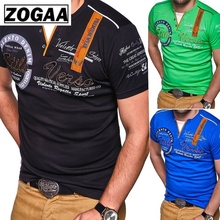 ZOGAA New Mens Polo Shirt 2019 Plus Size Casual Short Sleeve Shirts Men Fashion Printing Male Tops S-4XL Polos Brand