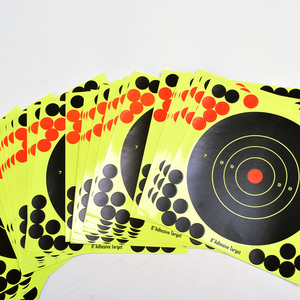 "Image 5 - 50 個粘着撮影ターゲットグローショット反応性 8 ""スプラッター銃とライフルターゲット紙"