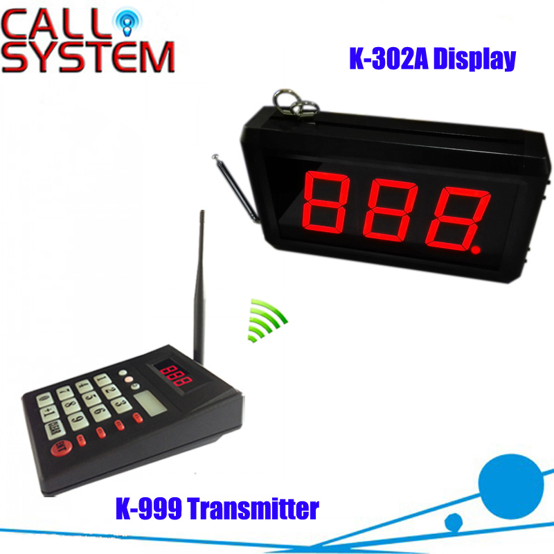 Kitchen Call Waiter System with 1 pcs keypad and 1 pcs 3-digit number display for restaurant equipment himabm 1 pcs 100