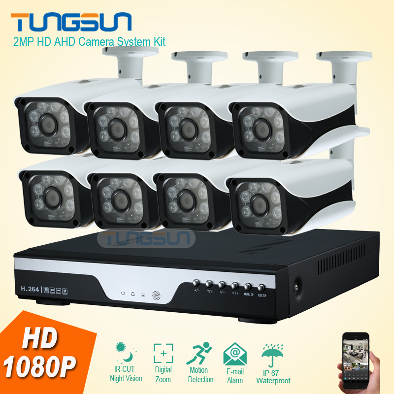 New 8 Channel HD AHD 2MP Home Outdoor Security Camera System Kit 6led Array Video Surveillance 1080P CCTV Camera System 8ch DVR щетка для волос 3d detangling ze06400
