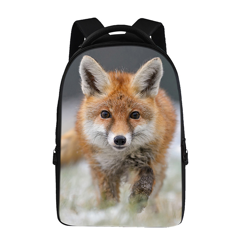 Animal fox prints Backpacks For Teens Computer Bag Fashion School Bags For Primary Schoolbags Fashion Backpack Best Book Bag