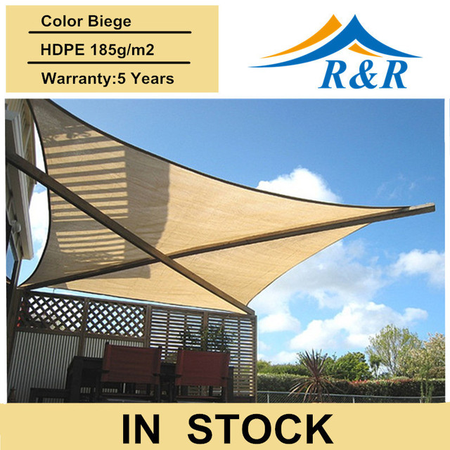 Exceptional Garden Sun Shade Sail Square Sun Shade Sail Canopy Garden Awning UV  Protection8*3.5m