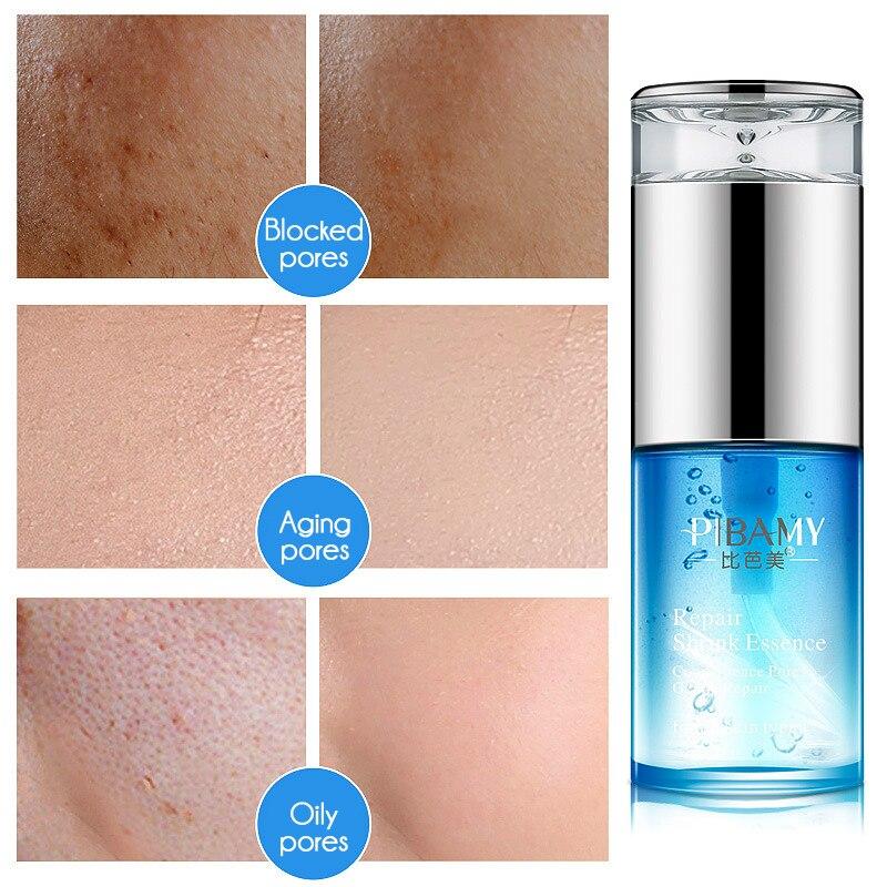 PIBAMY bruja hazel reducir los poros reparación facial esencia suero cuidado de la piel anti-envejecimiento tratamiento para el acné ojos hidratante