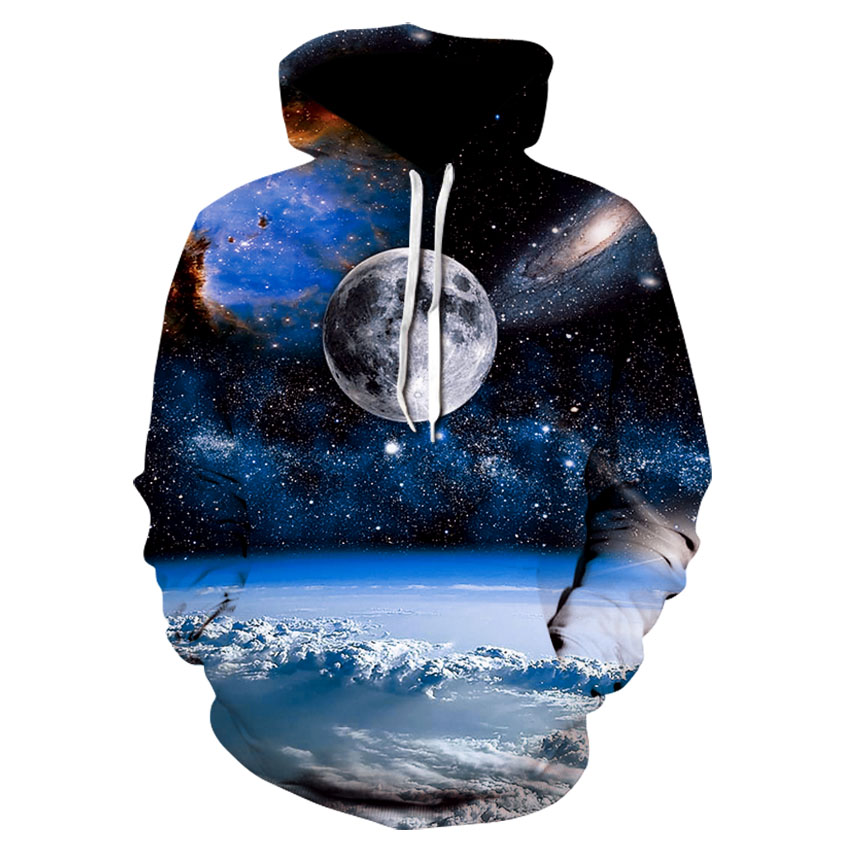 Stylish Men's/women's 3D Sweatshirt Space Earth Hoodie, Autumn Unisex Pullover Thin Hoodie Size 4xl Free Shipping